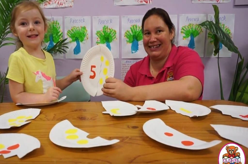 Paper Plate Number Puzzle Preschool Numeracy Activity